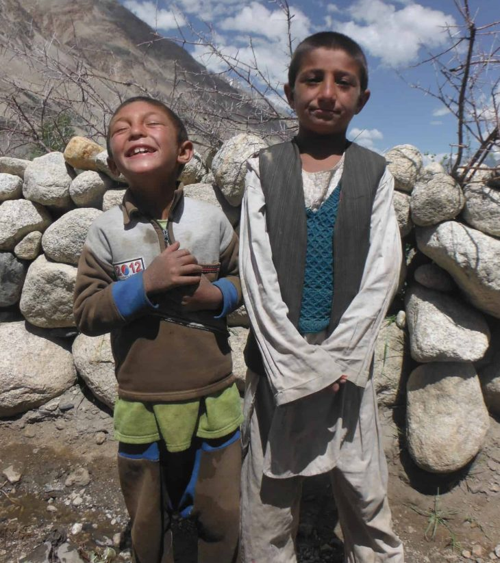 Children in Wakhan Corridor
